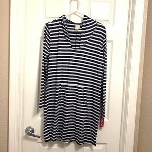 New women's dress Sz M  merona striped nautical